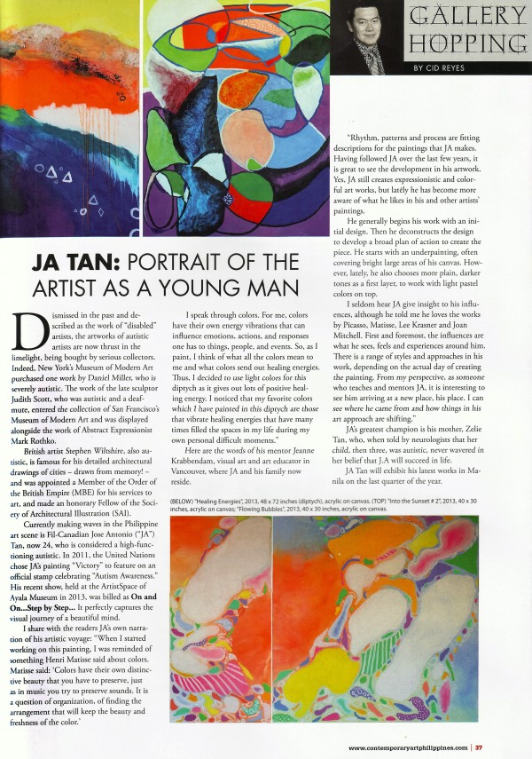 J.A. Tan in Contemporary Art Philippines